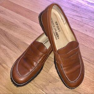 Donald J Pliner Sport Penny Loafer Brown Leather